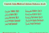 Contoh Isim Mufrad