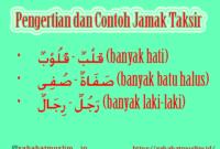 Contoh Jamak Taksir