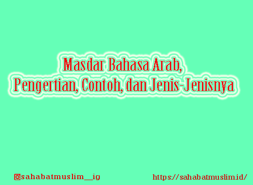 Masdar Bahasa Arab