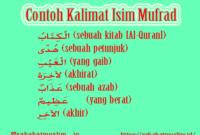 contoh kalimat isim mufrod