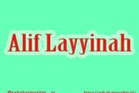 Alif Layyinah