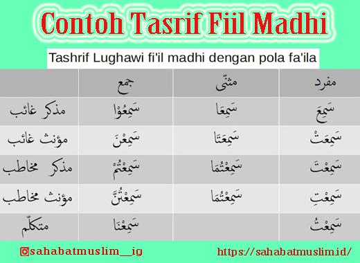 Tasrif Fiil Madhi