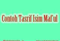 Tasrif Isim Maf'ul