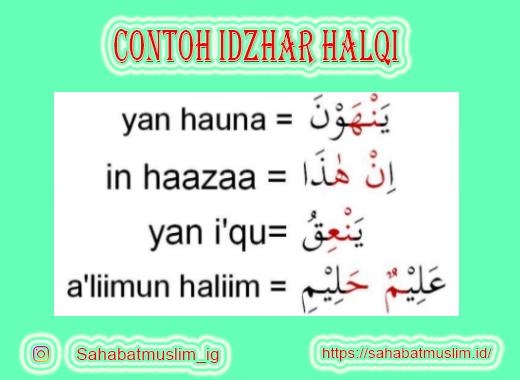 Contoh Idzhar Halqi