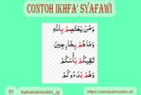 Contoh Ikhfa' Syafawi