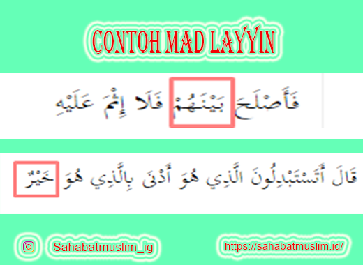 Contoh Mad Layyin