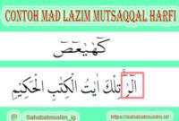 Contoh Mad Lazim Mutsaqqal Harfi