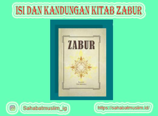 Kitab Zabur Diturunkan Kepada Nabi