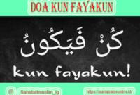 Doa Kun Fayakun