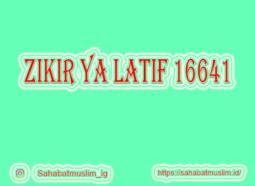 Ya Latif 16641